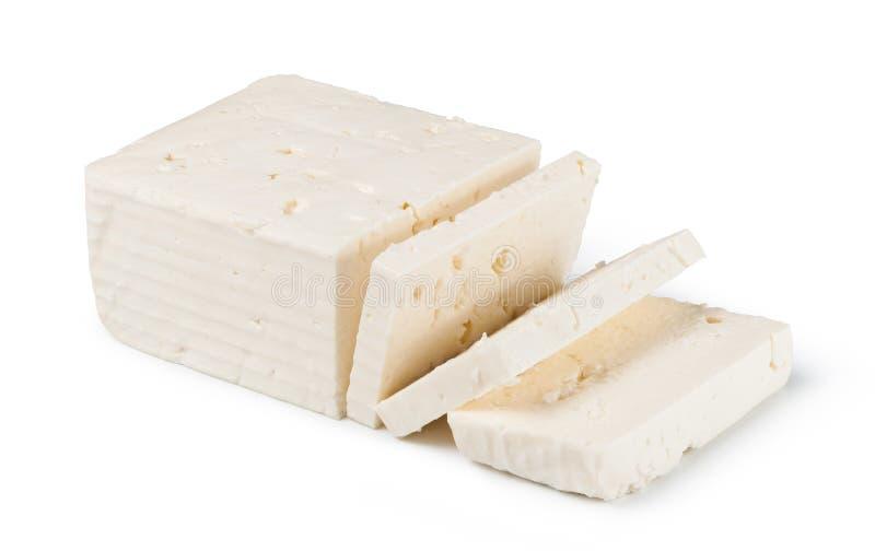 希腊白软干酪 图库摄影