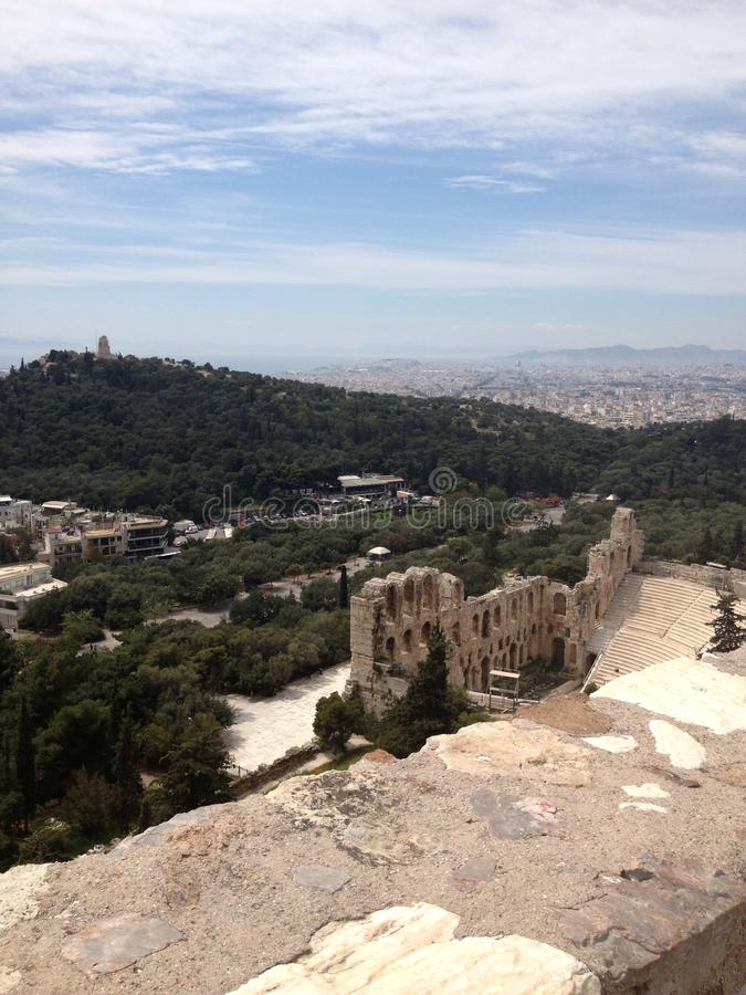 从希腊的一个壮观的看法 免版税库存图片
