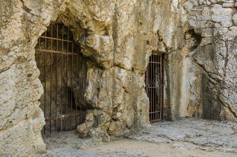 希腊的古老监狱 图库摄影