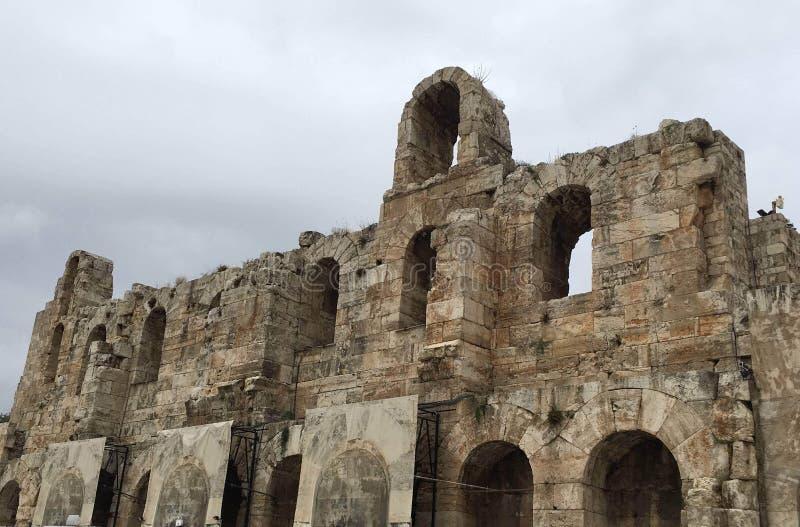 希腊的常设废墟 免版税图库摄影