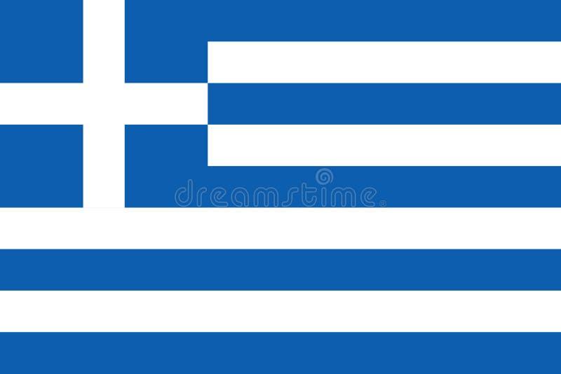 希腊的旗子 r 皇族释放例证