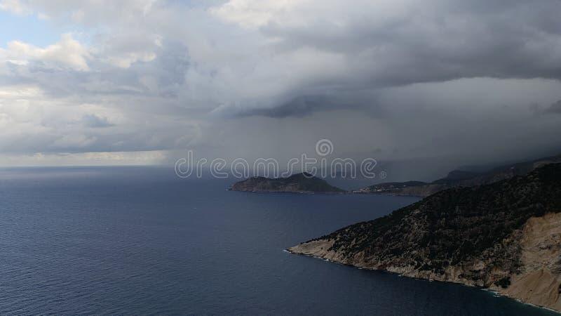 希腊的游轮旅行和海滩旅游 免版税库存图片