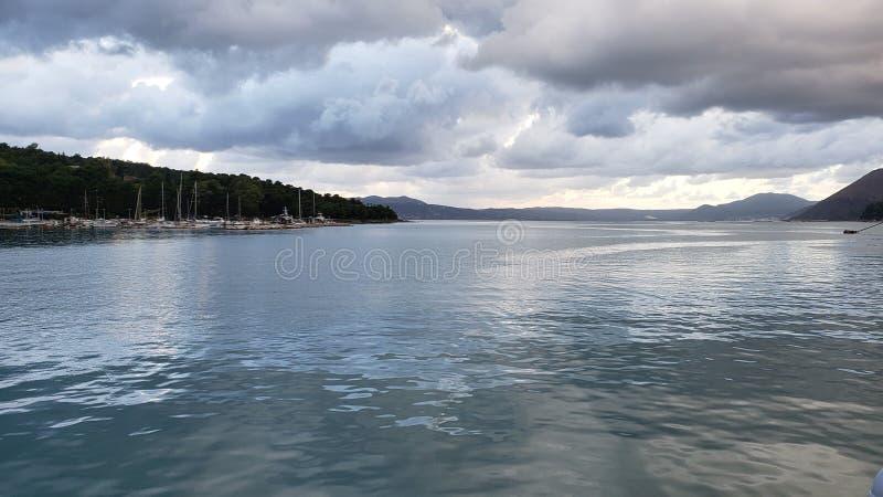 希腊的游轮旅行和海滩旅游 免版税图库摄影