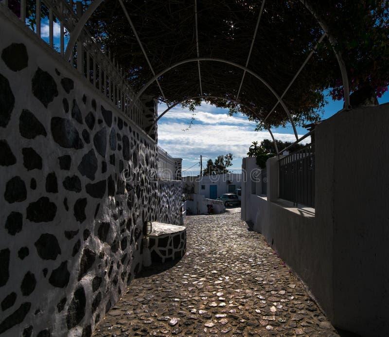 希腊的白色  圣托里尼 免版税库存照片