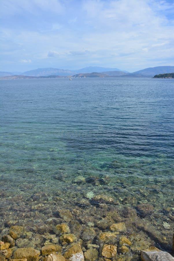 希腊的美丽的水 免版税库存照片