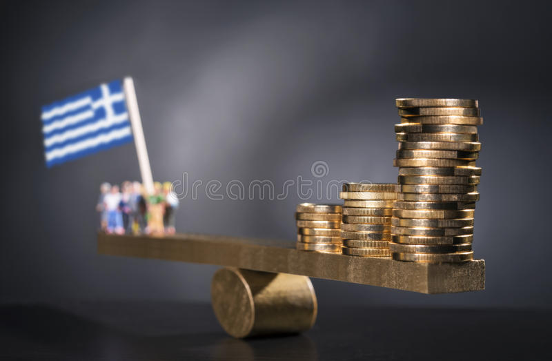 希腊的金钱 免版税图库摄影