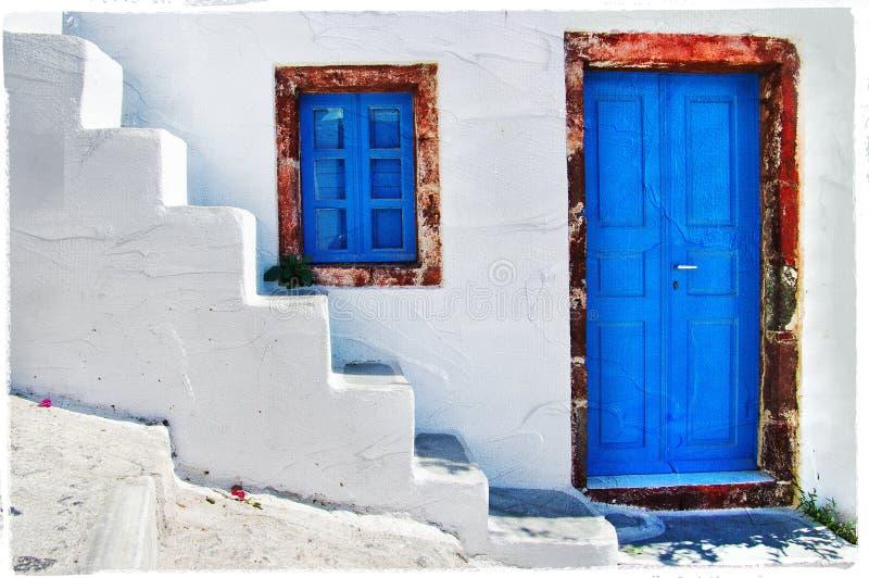 希腊的颜色 免版税库存图片