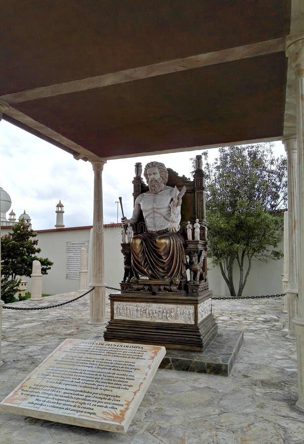 希腊神宙斯在公园分社杜克 库存图片