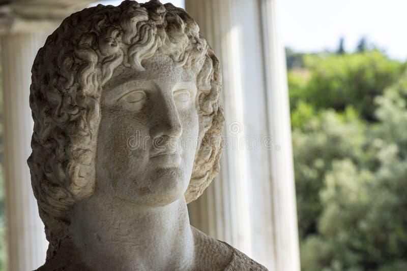 希腊神赫拉克勒斯胸象  库存图片
