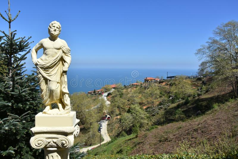 希腊神雕塑olympos山的 图库摄影