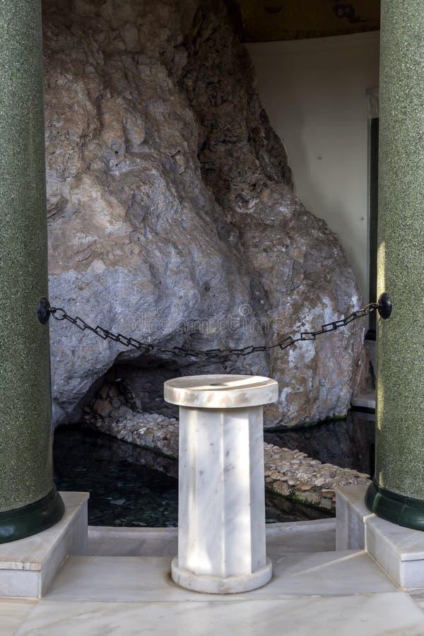 希腊科林西亚市的温泉度假村Loutraki 免版税库存图片