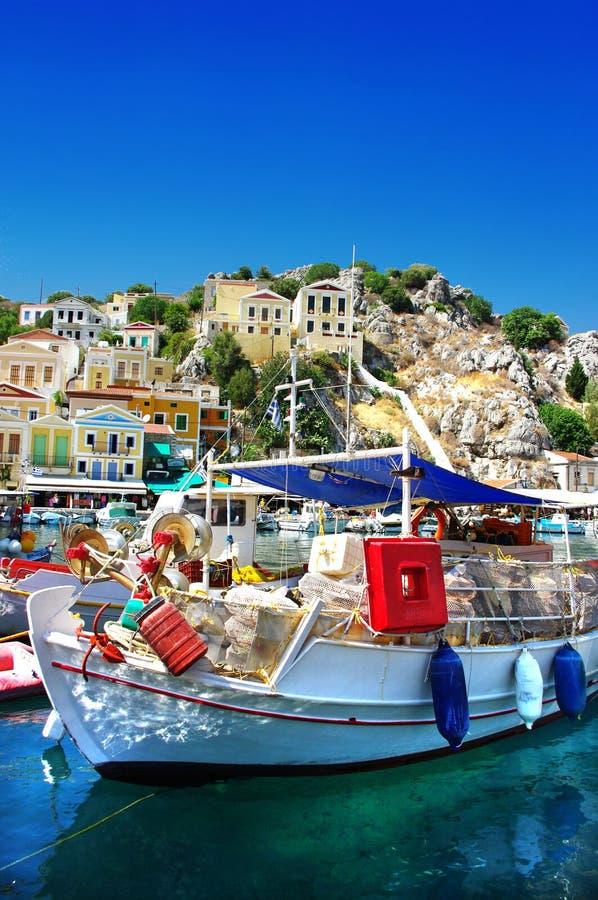 希腊端口 库存照片