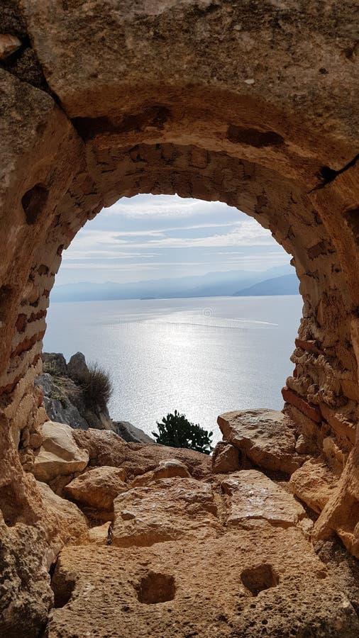 希腊自然风景 免版税库存图片