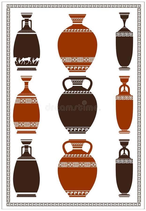 希腊花瓶的例证 库存例证