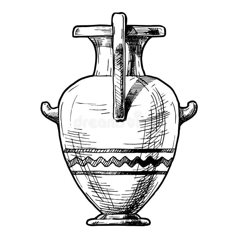 希腊花瓶 Hydria 库存例证