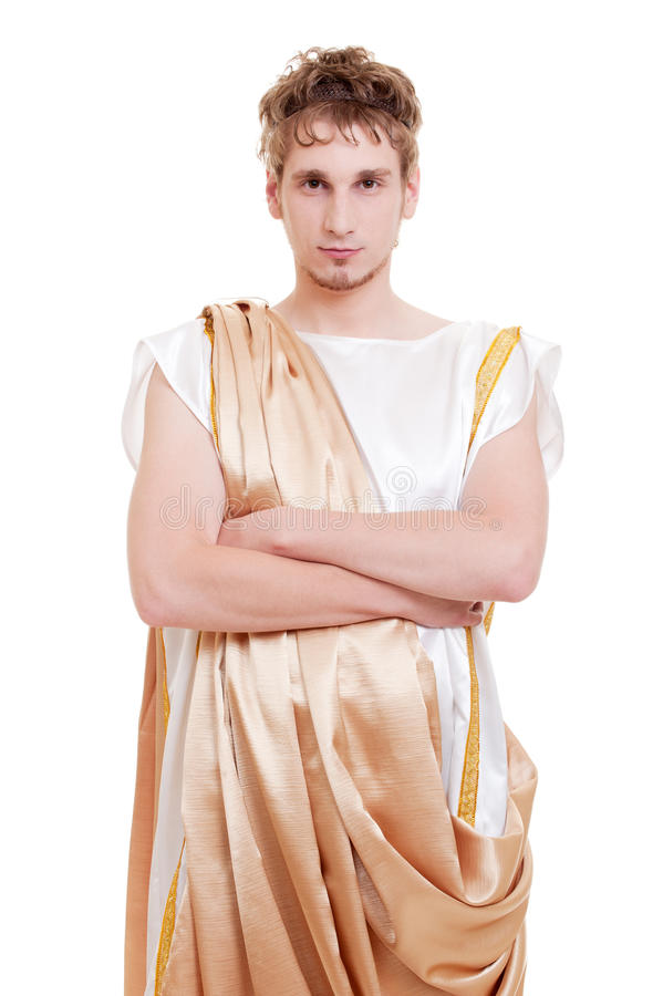 希腊英俊的人被称呼 免版税库存图片