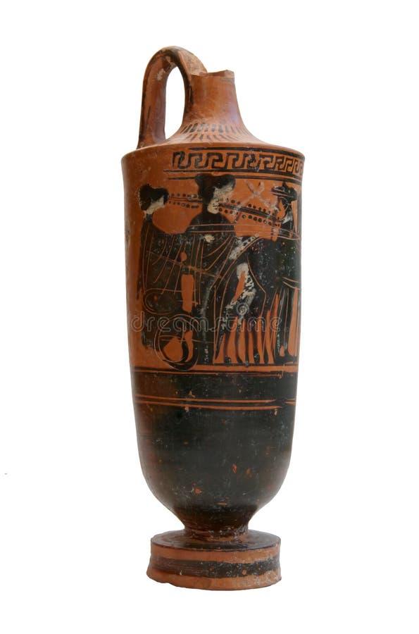 希腊语查出的花瓶 免版税库存图片
