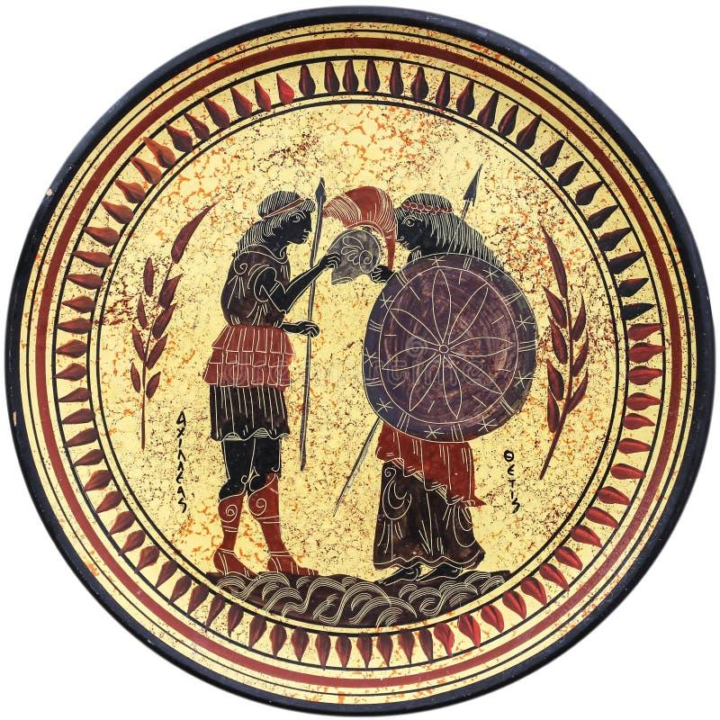 希腊语牌照 库存图片