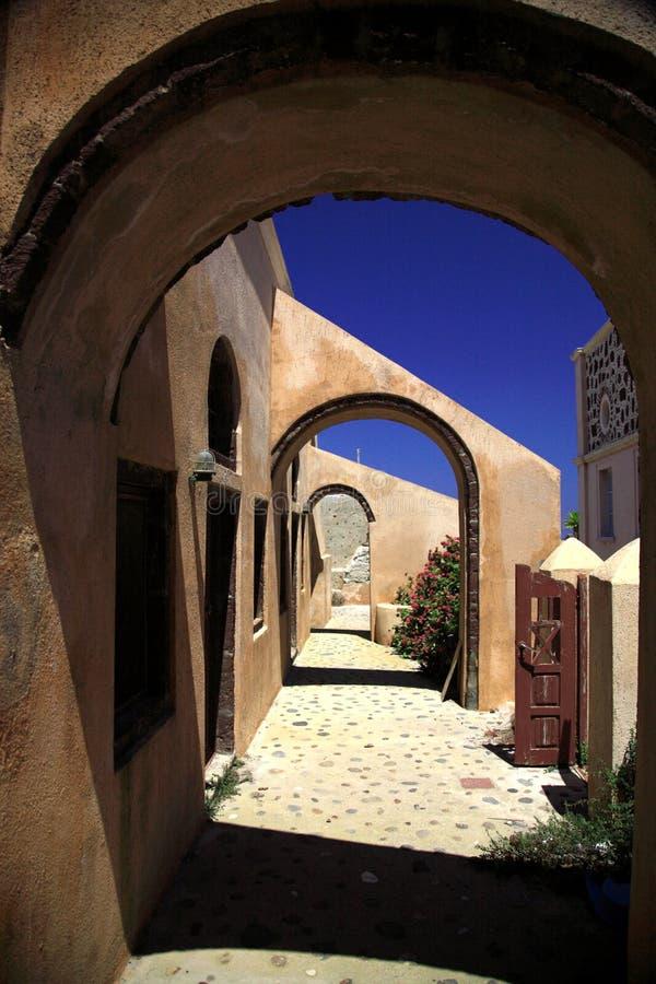 希腊语的拱道 免版税库存图片