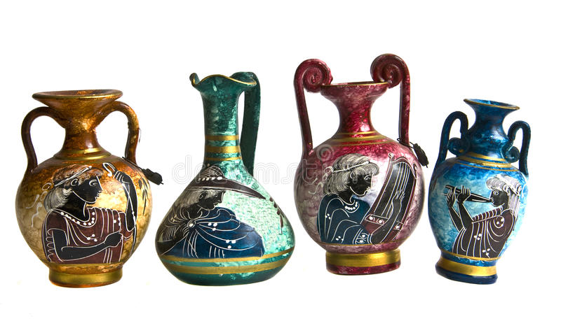 希腊语的油罐 免版税库存照片