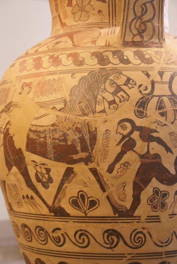 希腊语绘画花瓶 免版税库存图片