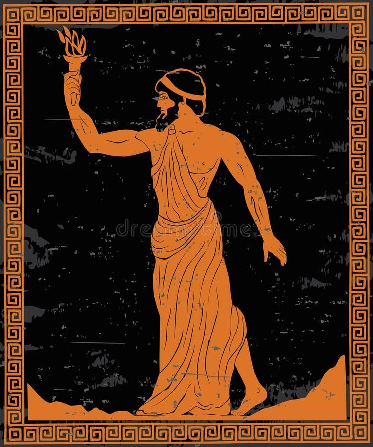 希腊语英雄 皇族释放例证
