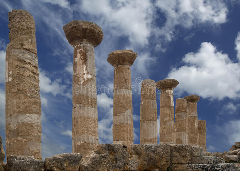 希腊语heracles遗骸寺庙 免版税库存图片