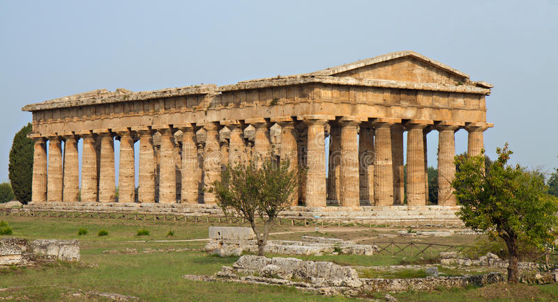 希腊语poseidon寺庙 库存照片