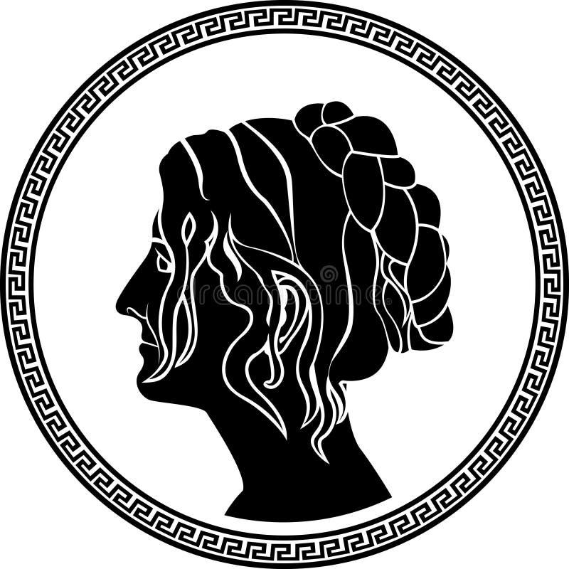希腊贵族妇女 库存例证