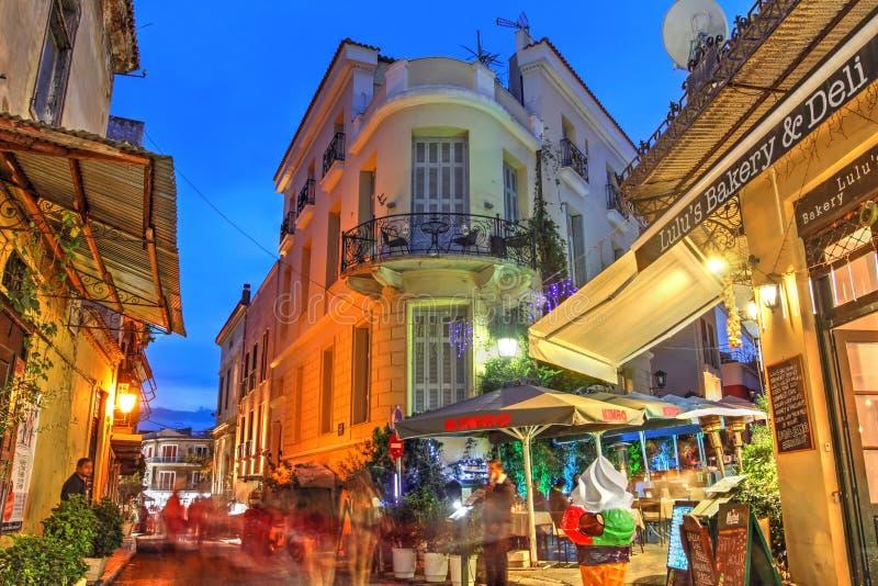 希腊雅典普拉卡街 免版税库存图片