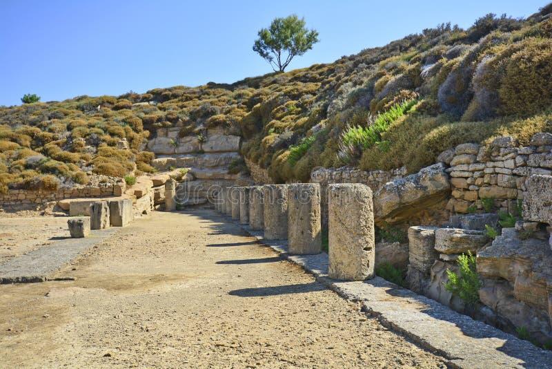 希腊,古老区域在利姆诺斯岛海岛 免版税图库摄影