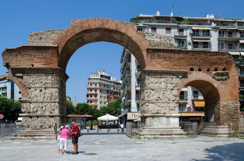 希腊,塞萨罗尼基, Galerius曲拱  免版税库存照片