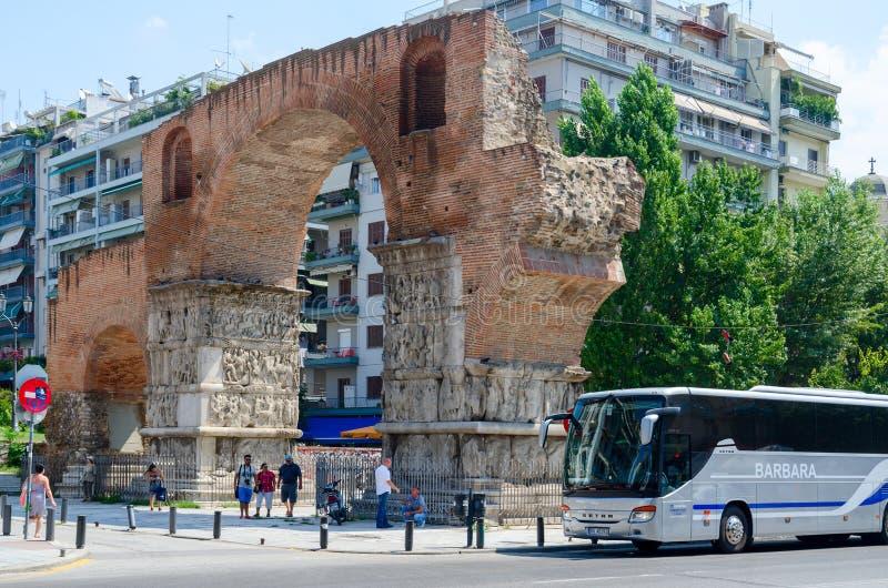 希腊,塞萨罗尼基, Galerius曲拱  免版税图库摄影