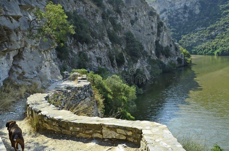 希腊, Nestos峡谷 免版税库存照片