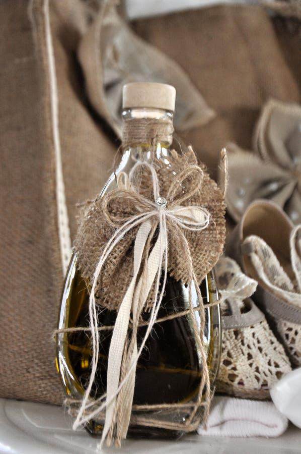 希腊洗礼的橄榄油 免版税库存照片