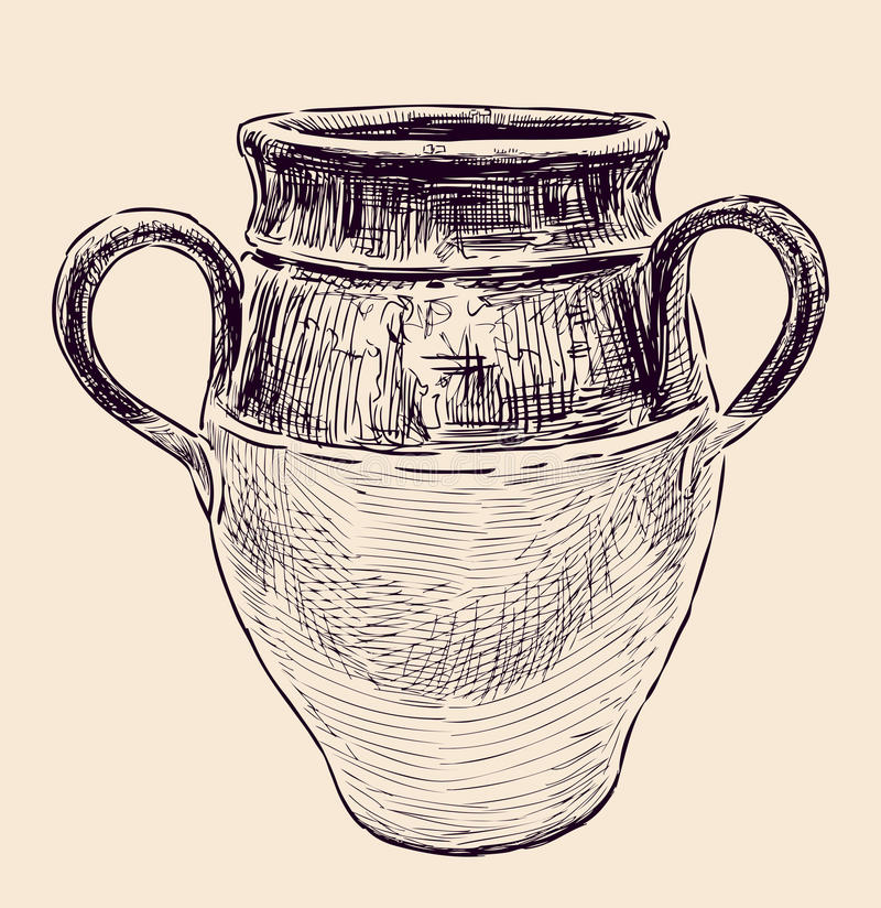 希腊水罐 向量例证