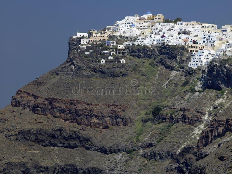 希腊imerovigli海岛santorini 图库摄影
