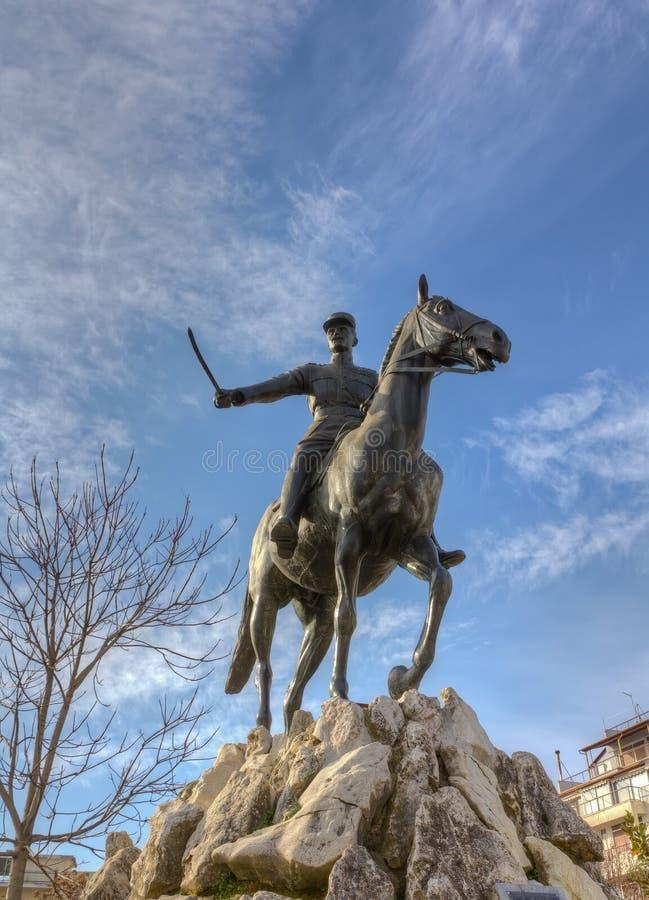 希腊karditsa nikolaos plastiras雕象 免版税库存图片