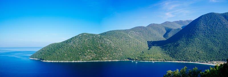 希腊Kefalonia瑟米- Antisamos Beach3 免版税图库摄影