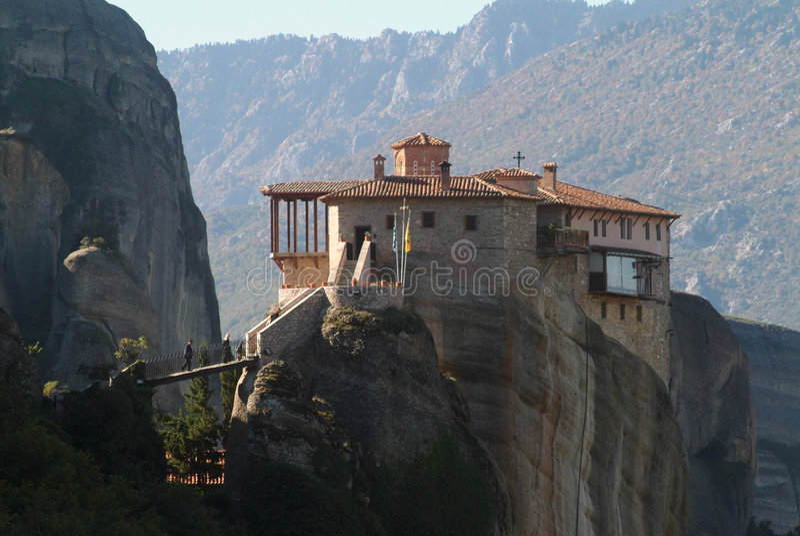 希腊meteora修道院 库存照片