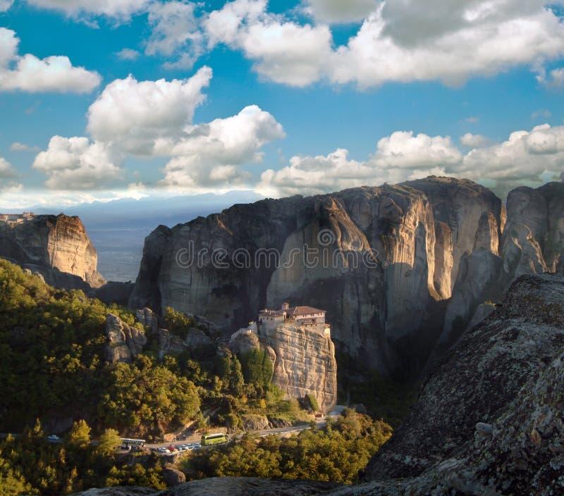 希腊meteora修道院 免版税库存照片