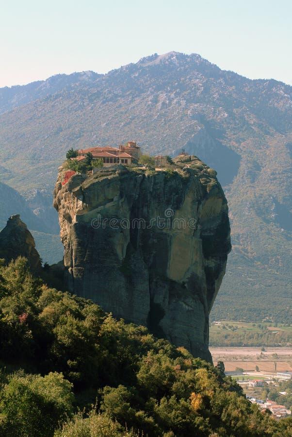希腊meteora修道院 库存图片
