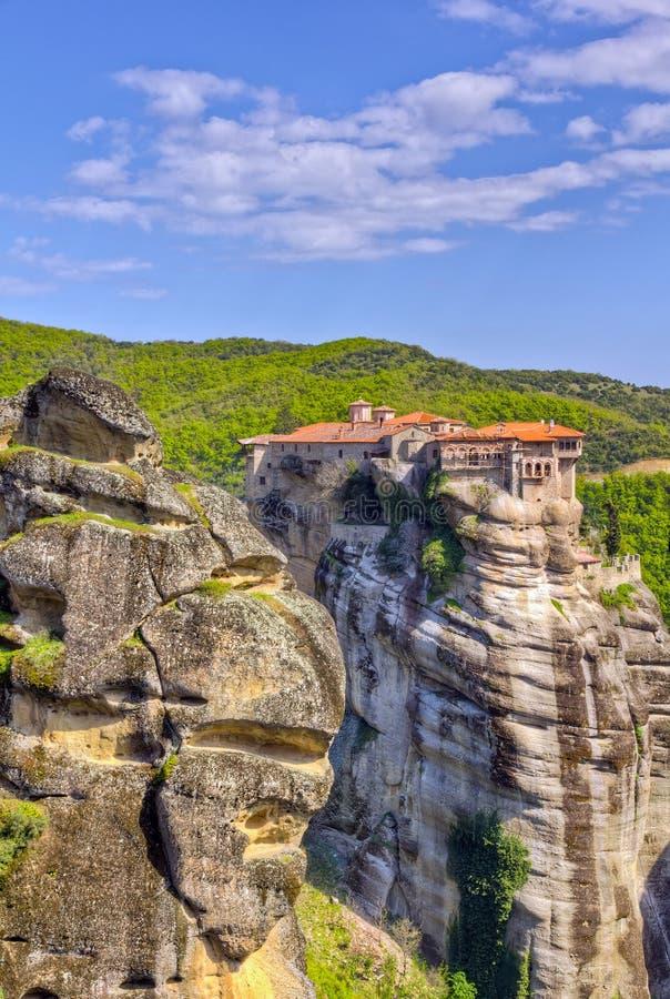 希腊meteora修道院varlaam 库存图片