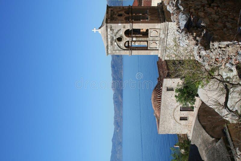 希腊monemvassia peloponnese 库存图片