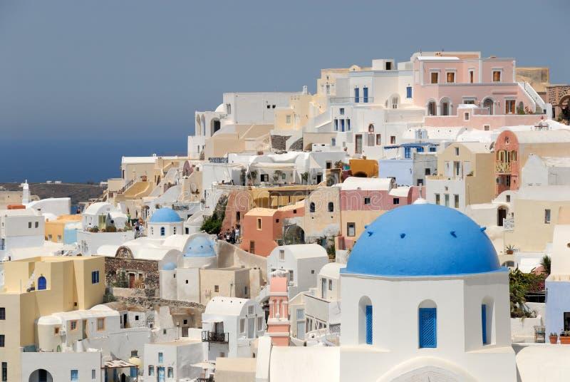 希腊oia santorini城镇 库存图片
