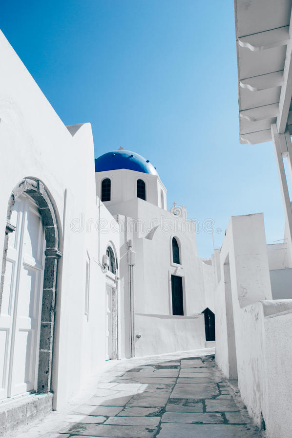 希腊oia santorini 库存图片