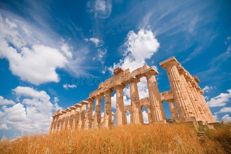 希腊selinunte寺庙 免版税库存照片