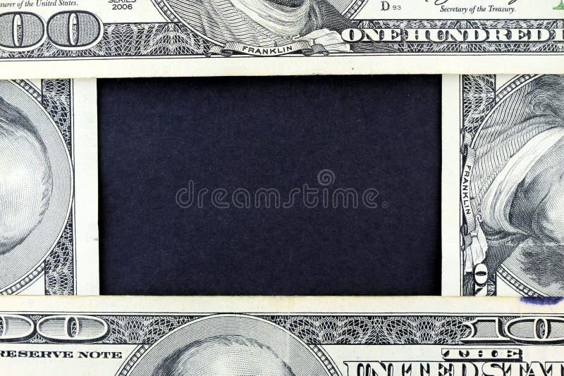 帐单币种美元框架一百一我们 库存照片