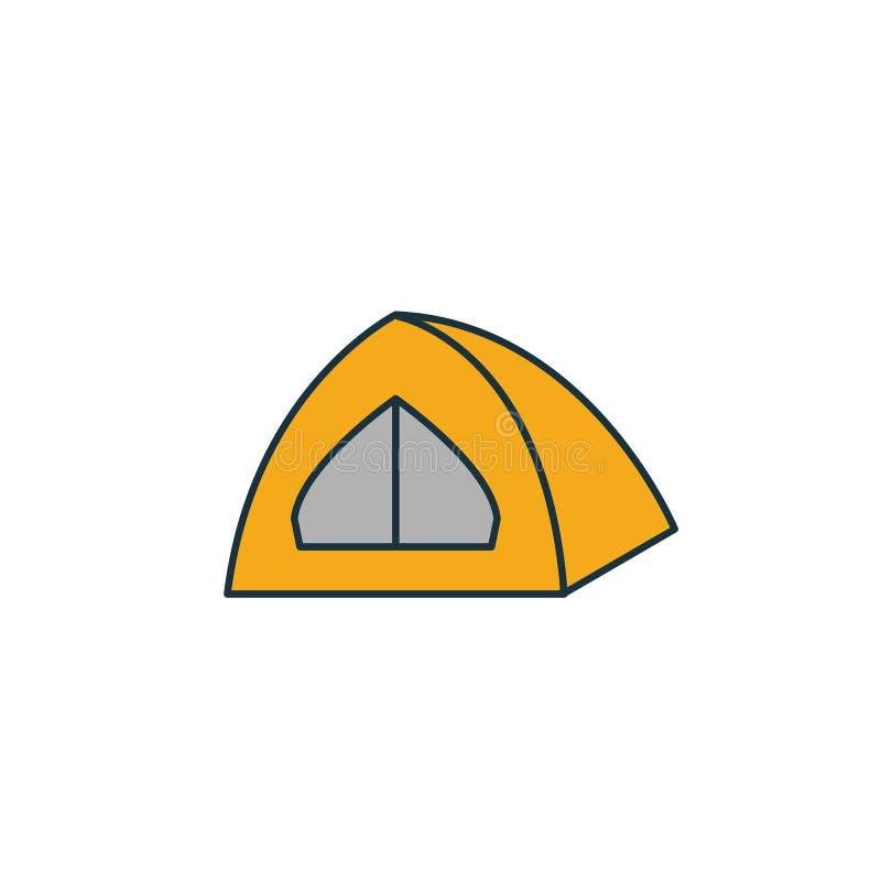 帐篷图标 差旅图标集合中的简单元素 Creative Tent icon ui, ux, apps, software and infographics 向量例证