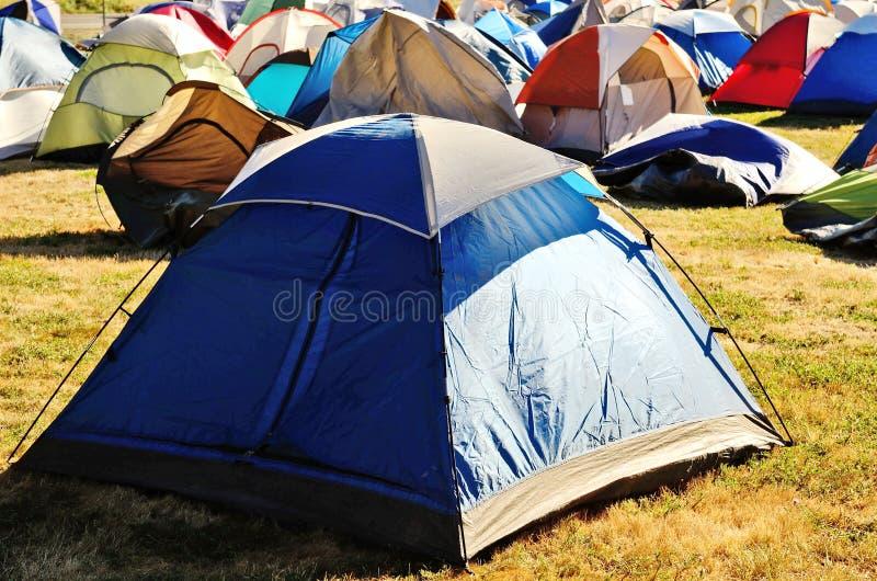 帐篷城市 免版税库存照片